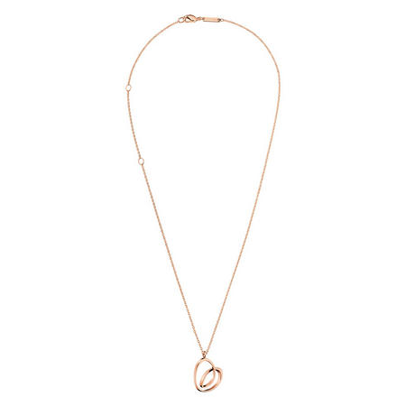 Twisted Heart Necklace Rose-Tone