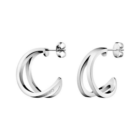 Outline Earrings Silver-Tone