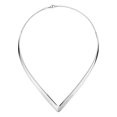 Semi Outline Choker Silver-Tone