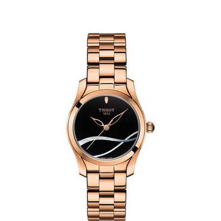 Black Dial T-Wave Gold-Tone