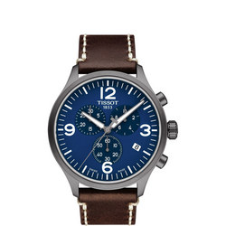 Blue Dial Chrono XL Brown