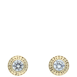 9ct Gold Round CZ Set Earrings