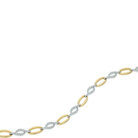 9ct Gold Diamond Set Bracelet