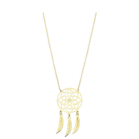 9ct Gold Dreamcatcher Pendant & Chain Gold