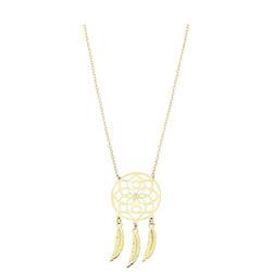 9ct Gold Dreamcatcher Pendant & Chain Gold