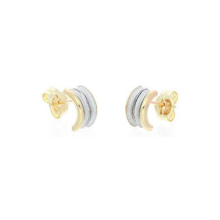 9ct 2-Tone Gold Earrings