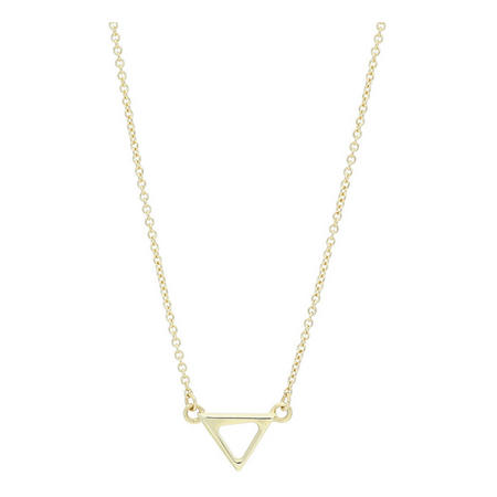 9ct Gold Triangular Pendant & Chain Gold