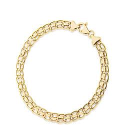 9ct Gold Roller Curb Bracelet