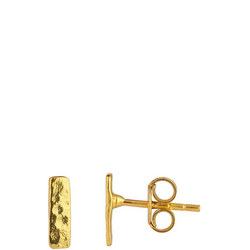 Small Bar Studs In Gold