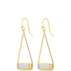 Manhattan Swing Earrings In Gold And Moon Stone