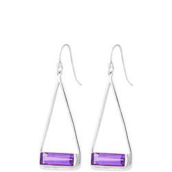 Manhattan Swing Earrings In Sterling Silver And Amethyst
