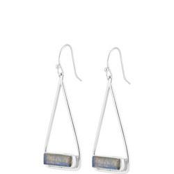 Manhattan Swing Earrings In Sterling Silver And Labradorite