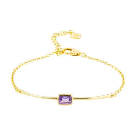 Manhattan Bracelet In Gold And Amethyst