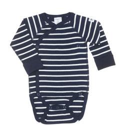 PO.P Stripe Wraparound Bodysuit