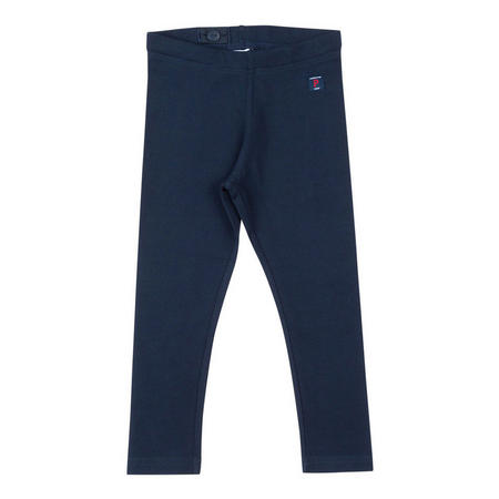 Girls Organic Leggings Blue