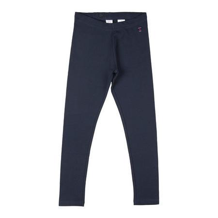 Girls Organic Leggings Blue