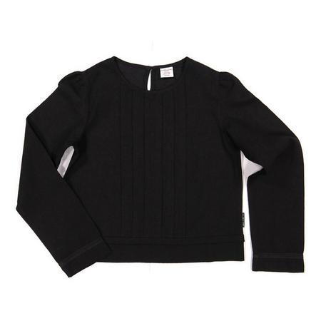Girls Black Pleated Blouse Black