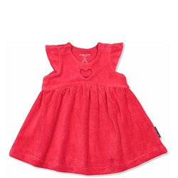 Baby Girls Velour Dress Red