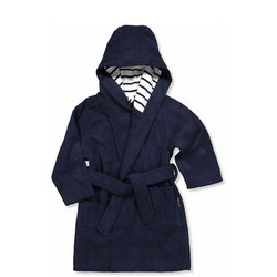 Cosy Terry Robe Blue