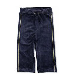 Girls Velour Trousers Blue