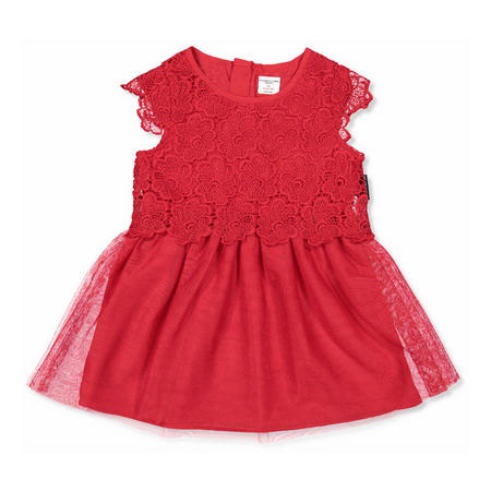 Girls Lace Party Dress Red