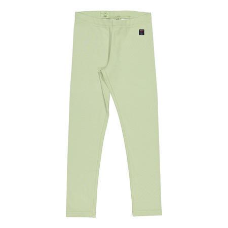 Girls Organic Leggings Green