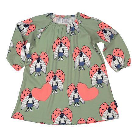 Baby Girls Beetle Print Dress Green