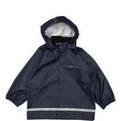 Kids Navy Rain Coat Blue