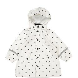 Kids Waterproof Rain Jacket White