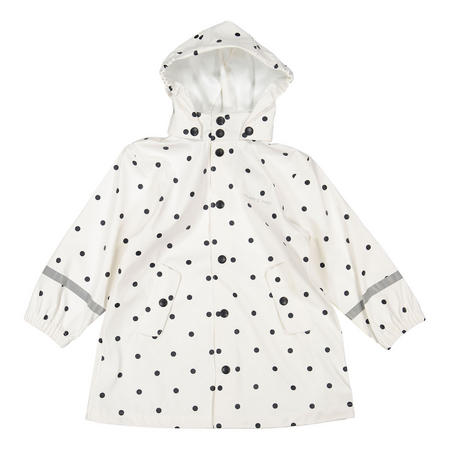 Kids Waterproof Rain Jacket White