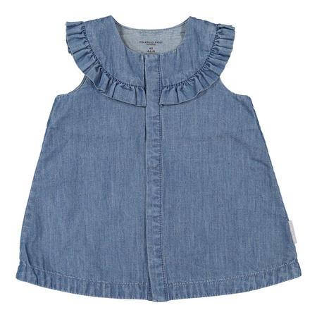 Babies Soft Denim Dress Blue