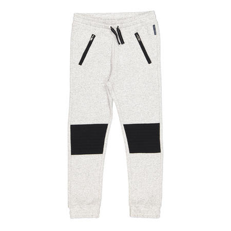 Kids Grey Marl Jogger Bottoms Cream