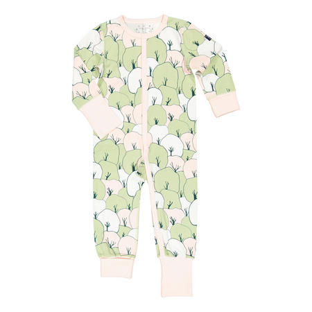 Kids Tree Print Sleepsuit Pink