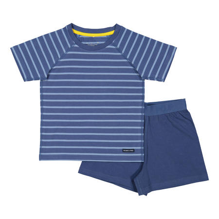 Kids Short Sleeve Pyjama Set Blue