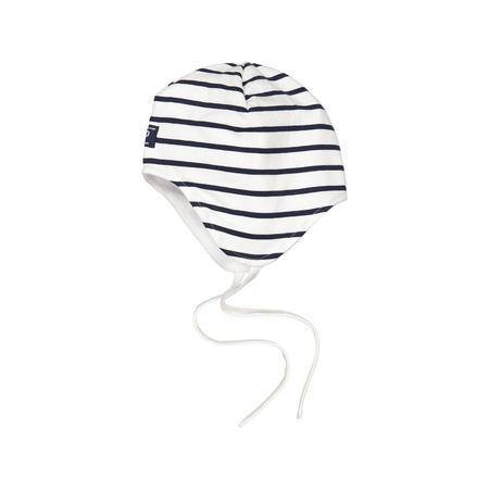 Baby Striped Beanie Hat White