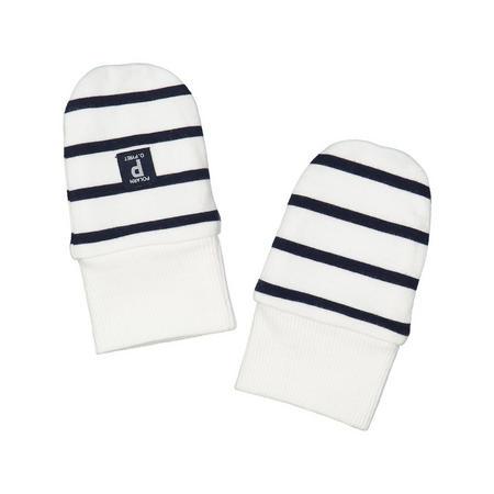 Striped Newborn Baby Hat White
