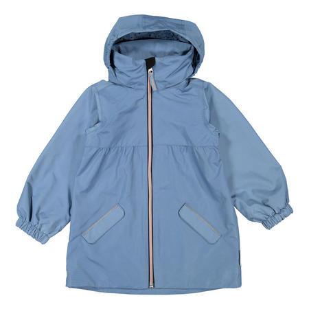 Girls Long Shell Coat Blue