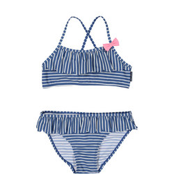 Girls Striped Bikini Blue