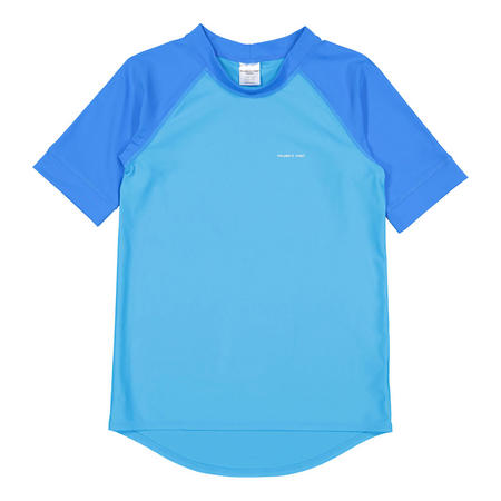 Boys UV Sun Safe Rash Vest Blue
