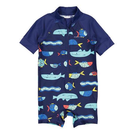 Babies UV Sun Safe Swimsuit Blue