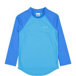 Boys UV Sun Safe Rash Vest Blue