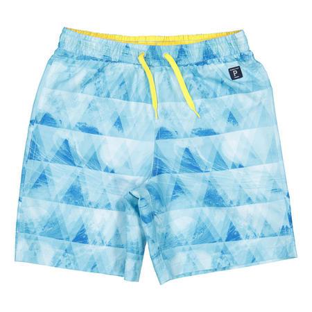 Boys Wave Print Swim Shorts Blue