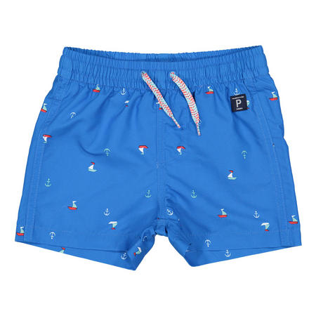 Boys Sail Boat Print Swim Shorts Blue
