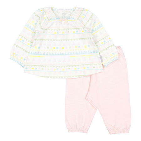 Baby Girls Aztec Top and Trouser Set White