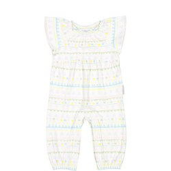 Baby Girls Aztec Print Playsuit White