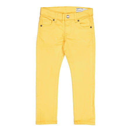 Kids Slim Fit Coloured Jeans Yellow
