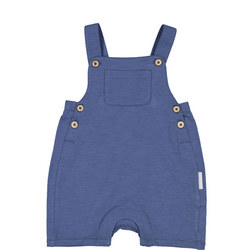 Babies Organic Cotton Romper Blue