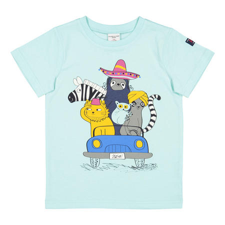 Kids Printed T-Shirt Blue