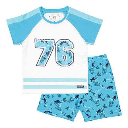 Kids Shortie Pyjamas Blue