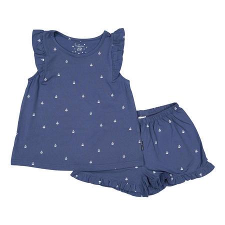 Girls Sail Boat Print Pyjamas Blue